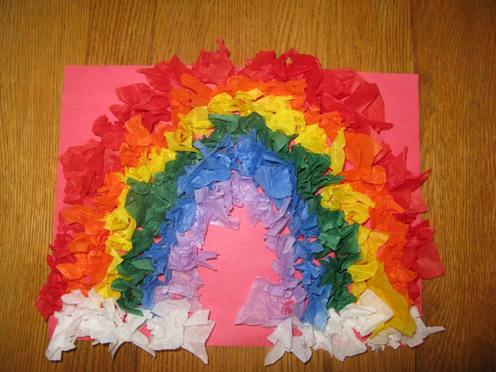Ways on Making Tissue Paper Rainbow Craft Tissue Paper Rainbows Our Out Of Sync Life