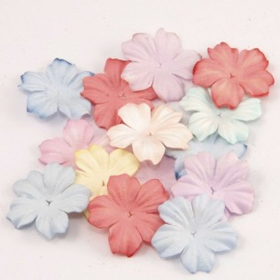 Wedding Paper Crafts Pastel Mix Mulberry Paper Blooms Crafts Card Making Flowers Wedding