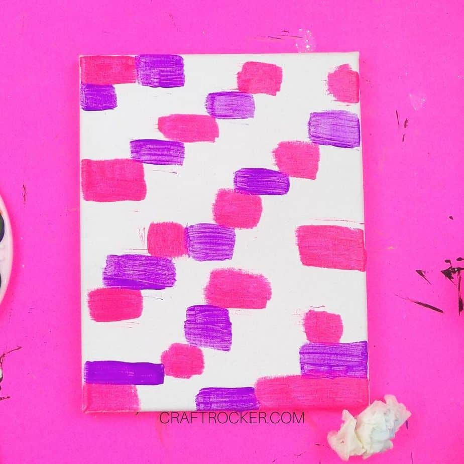 Hot Pink and Purple Rectangles on Canvas - Craft Rocker