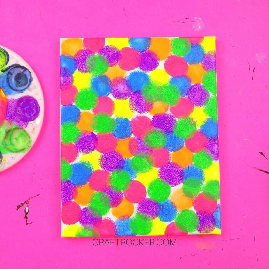 Multi-Color Painted Circles on Canvas - Craft Rocker