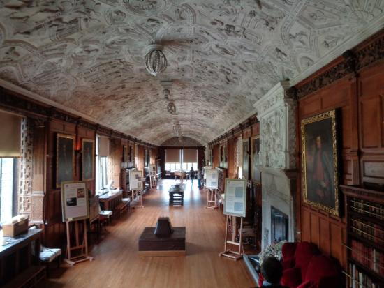 The Incredible Ceiling in the Long Gallery of Lanhydrock House