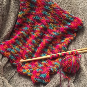 Bright Coloured knitted panel