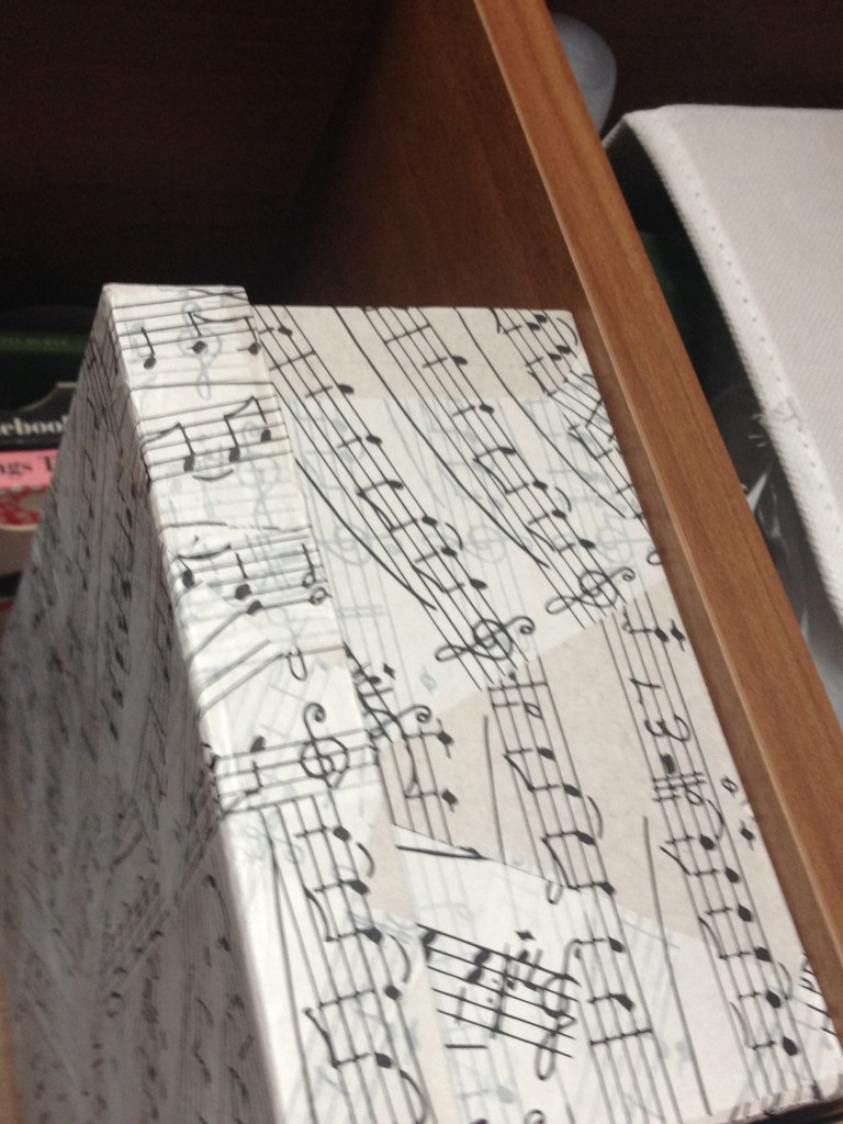 Music themed decopatch storage box
