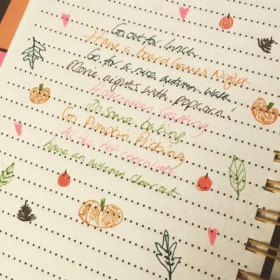 My autumn bucket list