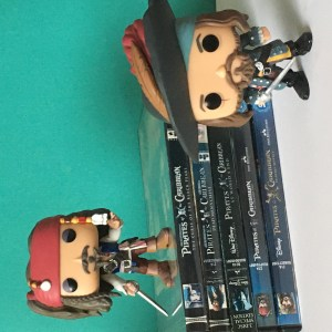 Summer movie favourites - 5 Pirates of the Caribbean movies on DVD and Jack and Barbosa Funko Pops.