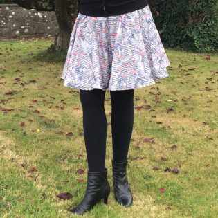 Butterflies and Music circle skirt
