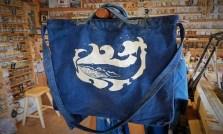 CANOE/藍染抜染クジラ
