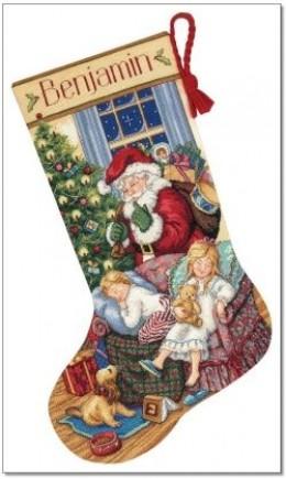 cross stitch stocking kit - Cross Stitch Christmas Stocking Kits