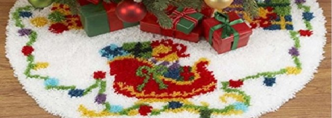 Latch Hook Tree Skirt Kits