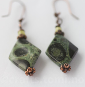Jasper kumbaba earrings