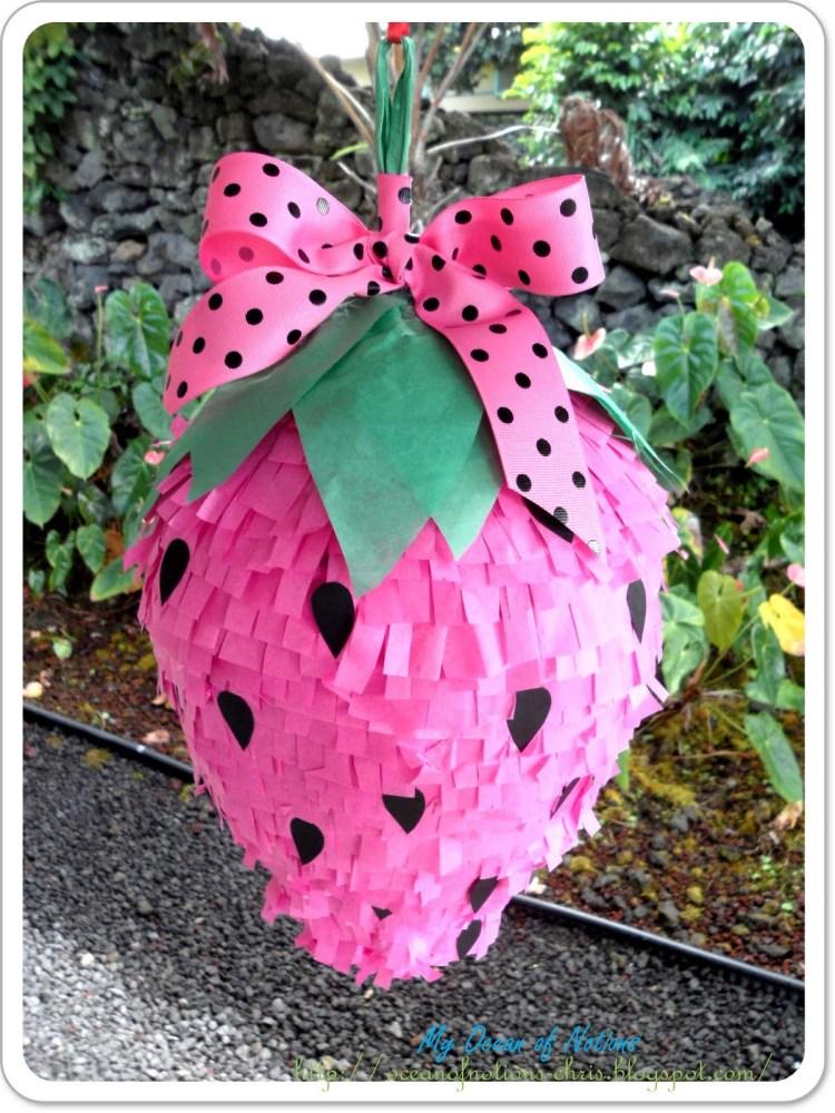 Piñata en forma de fresa (1/6)
