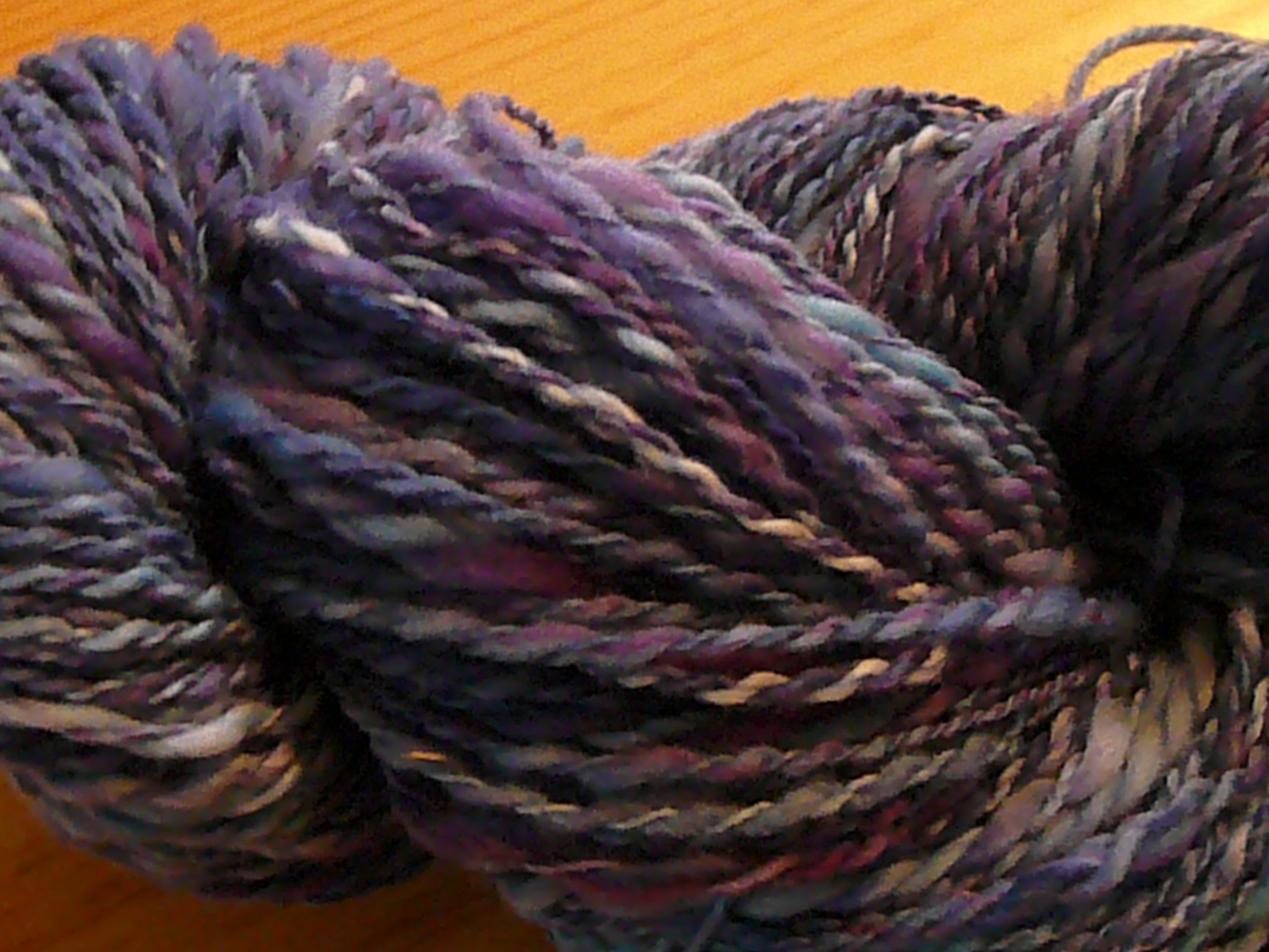 Close up of skein