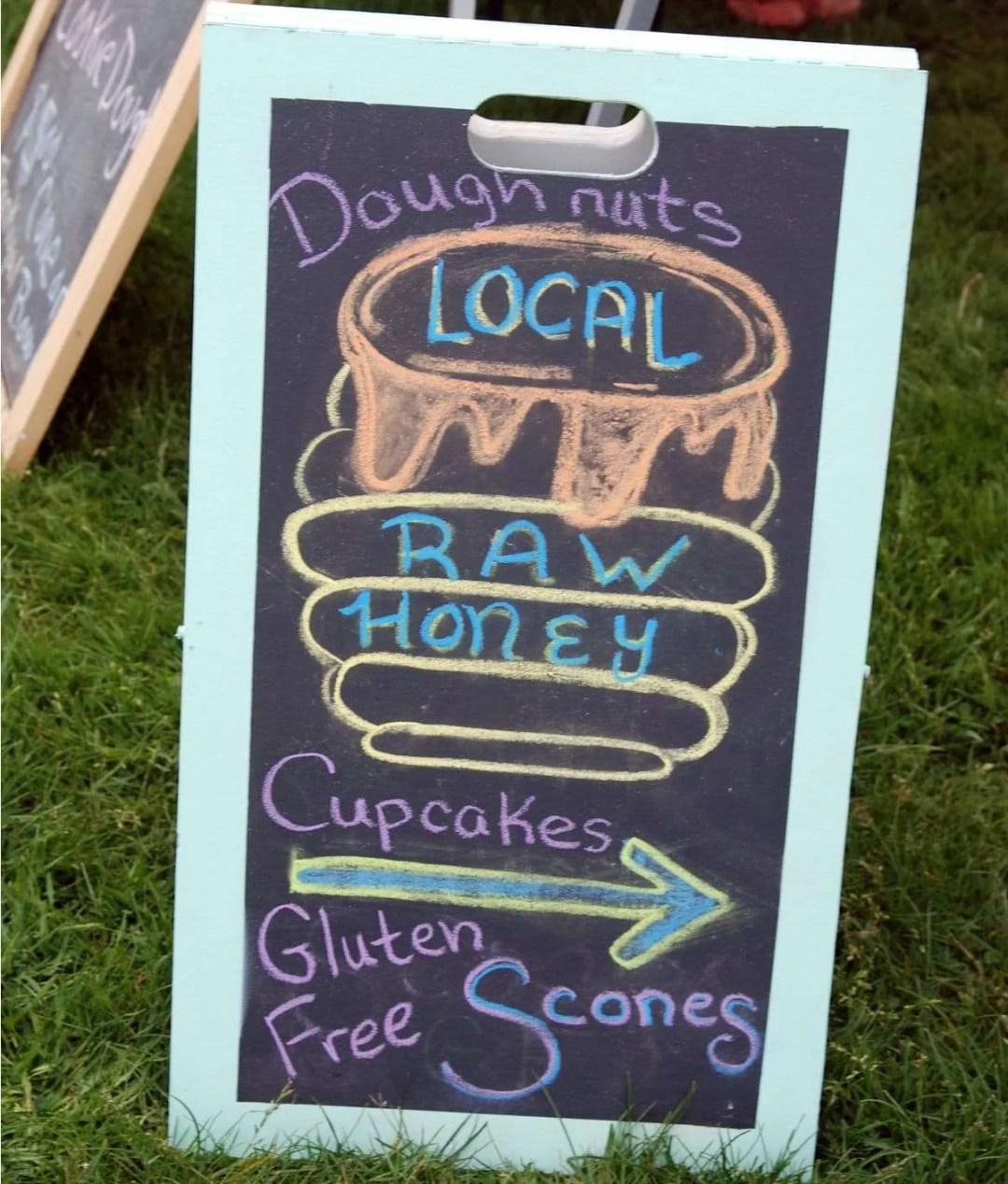 Craftsbury Farmers Market Vendor Products - honey, baked goods, coffee, tea