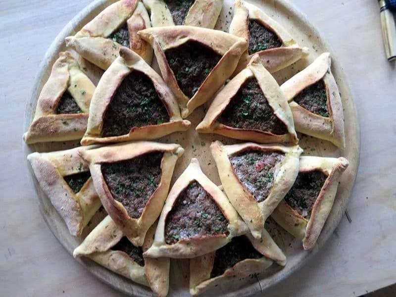 Arabian sfighas pastries by chef Alejandro Angio - Craftsbury Farmers Market