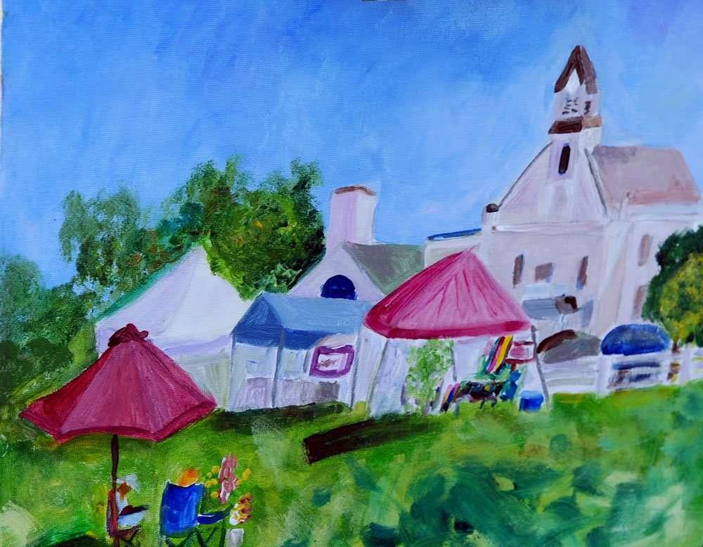 Plein Air Paint the Common - June Cook & Malcolm Sandison - June's Flowers