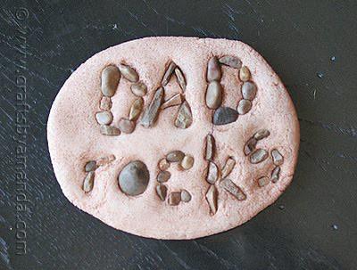 Dad Rocks Paperweight by Amanda Formaro