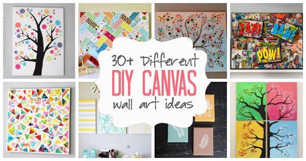 DIY Canvas Wall Art Ideas: 35+ Canvas Tutorials