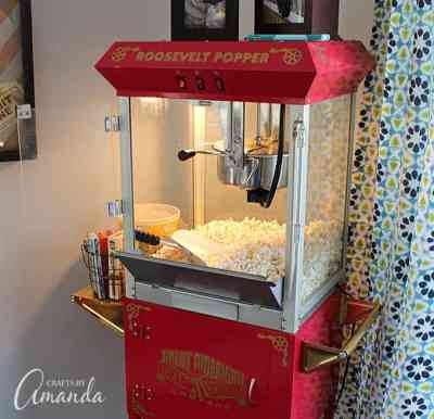 Home Theater Ideas Decor Popcorn Machine Great American Popcorn Company Movie Theater Popcorn Theatre Roosevelt Popper Red And Gold Popcorn Popper