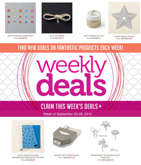 Weekly Deals, Stampin Up