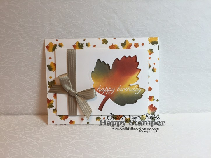 Vintage Leaves, Perpetual Birthday, Birthday Blossoms, Stampin Up, Fall