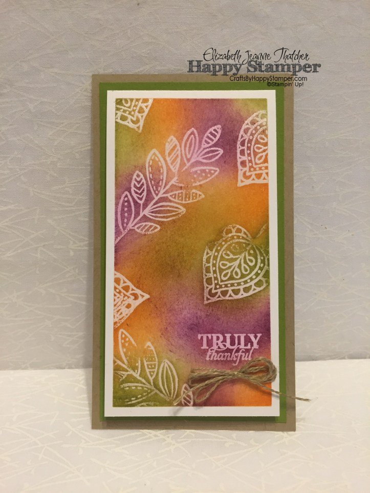 Lighthearted Leaves, Paper Pumpkin, Emboss Resist, Stampin Up