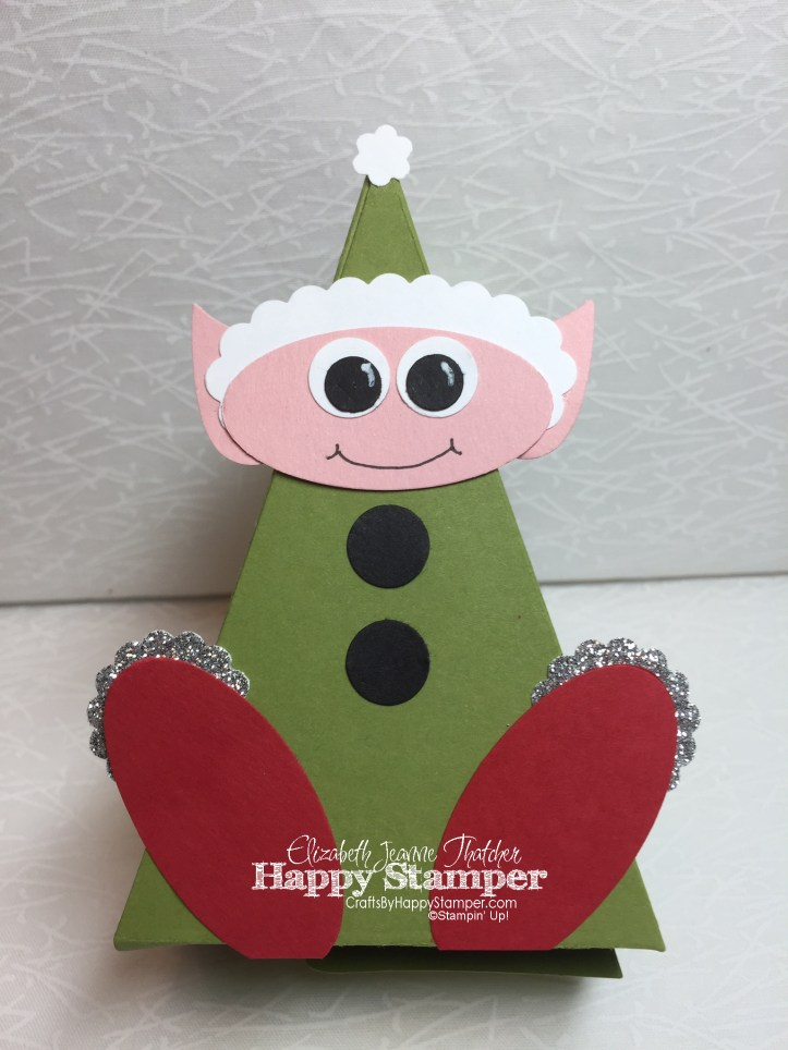 elf, cutie pie thinlits, stampin up, bird builder punch, tree builder punch