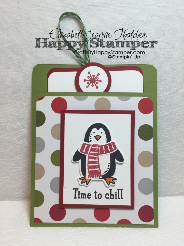Stampin Up, Snow Place, Merry Moments, Pocket Card
