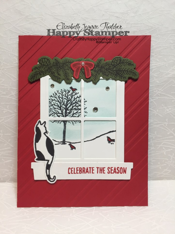 Stampin Up, Festive Fireplace, Hearth & Home, Christmas