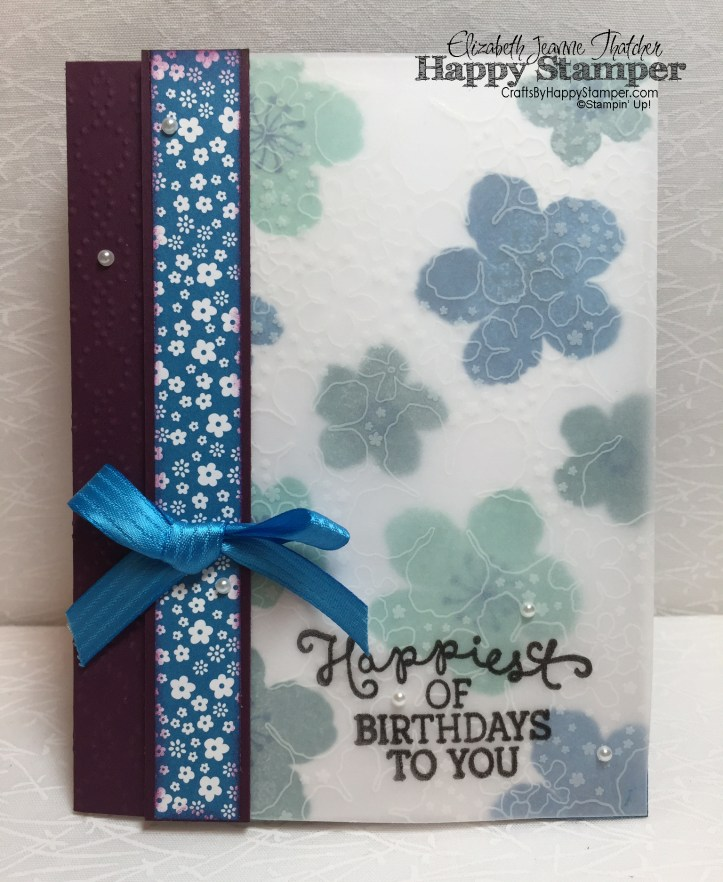 Stampin Up, Botanical Gardens, Birthday Blooms, Can You Case It, cynic