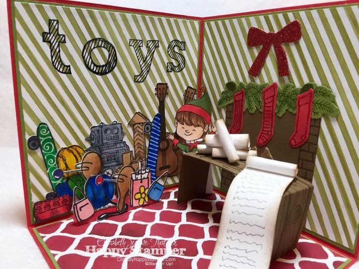 Stampin Up, Epic Alphabet, Boys will be boys, christmas cuties, hey girl, skating by, box, Christmas, Santa's Workshop