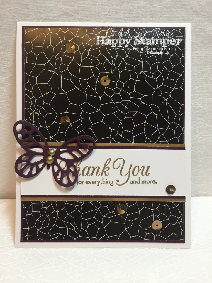 Stampin Up, Winter Wonderland, Thank You Note Card Set, One Big Meaning, Bold Butterfly