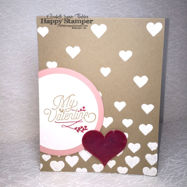 Stampin Up, Bloomin Love, hearts & stars mask