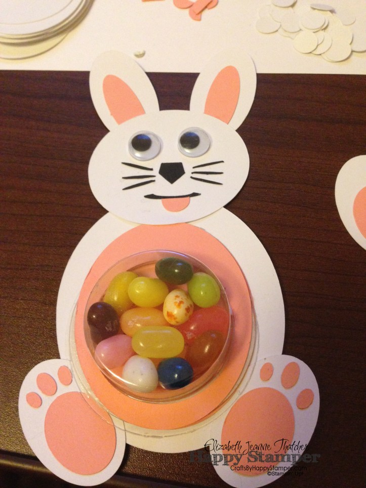 Stampin Up, easter, treats, jelly belly, treat cups, punch art