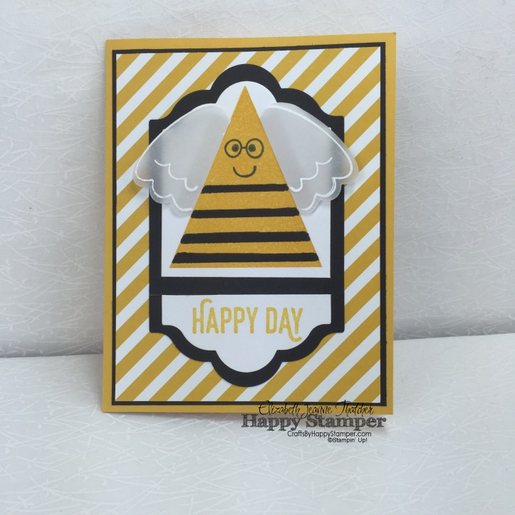 Stampin Up, Playful Pals, Bumble Bee, Lots of Labels