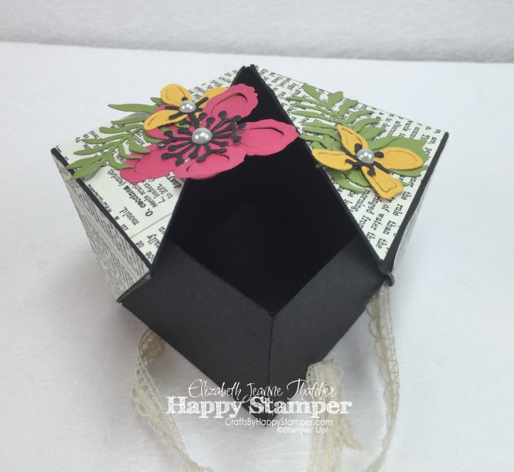 Winged Gift Box, Stampin' Up, Botanical Gardens, Typeset, Venetian Trim, 3D
