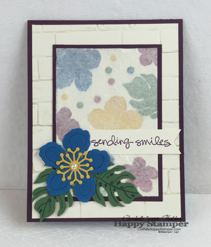 Stampin Up, faux silk, botanical gardens, greatest greetings, botanical builders