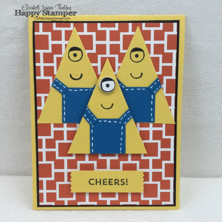 Stampin Up, minion, and many more, playful pals, schoolhouse