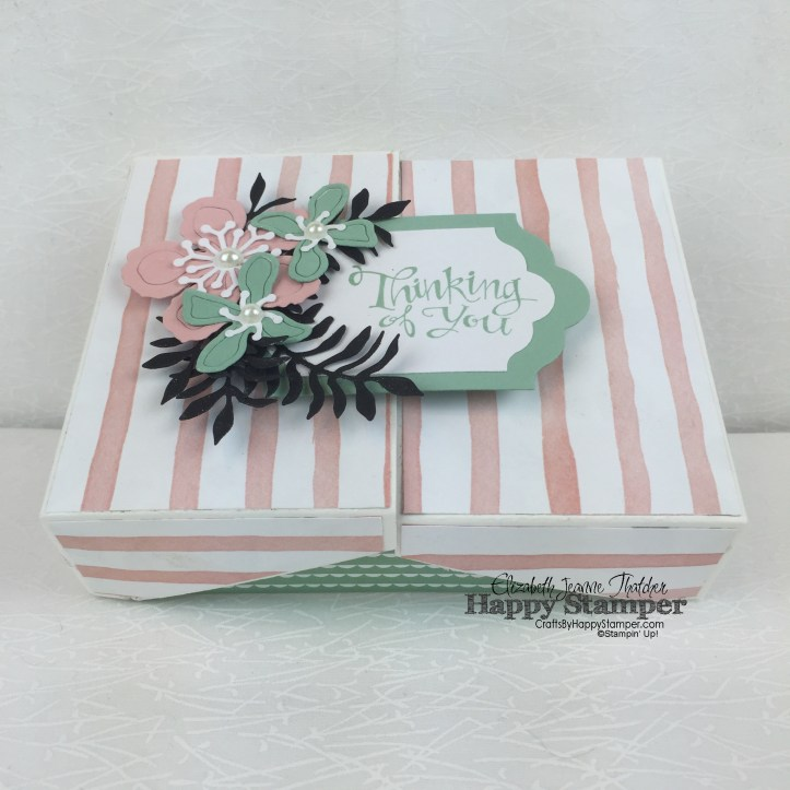 Stampin Up, 3D, box, Thinking of You, Sassy Salutations, Botanical Builders, Birthday Bouquet