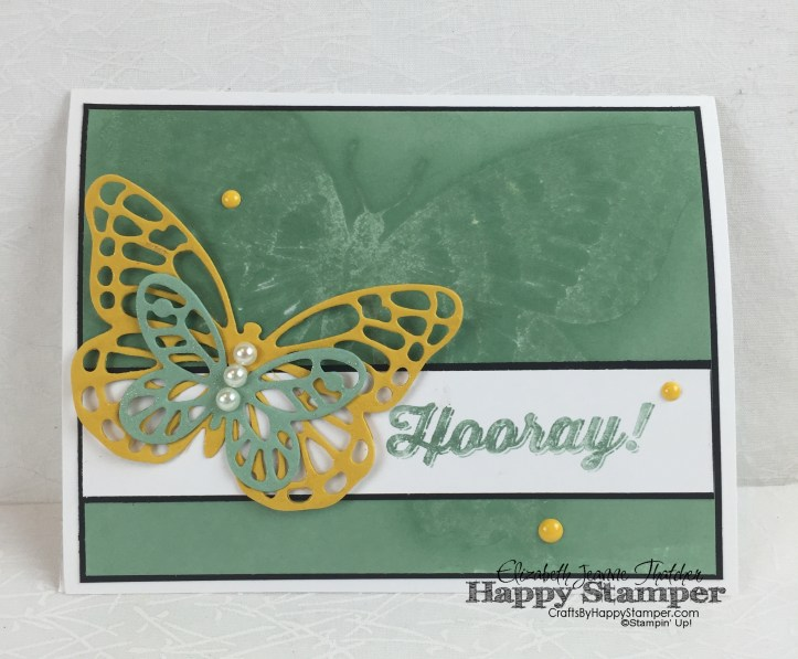 Stampin UP, Technique Club, Water Stamping, Bold Butterflies, Swallowtail