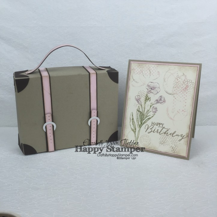 Stampin Up, Vintage, Timeless Textures, Butterfly Basics, Traveler, 3D, suitcase, matchbox