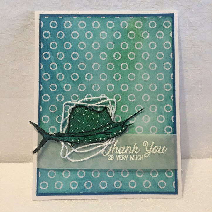 Stampin Up, CYCI, Irresistibly floral DSP, From Land to Sea, Flourishing Phrases