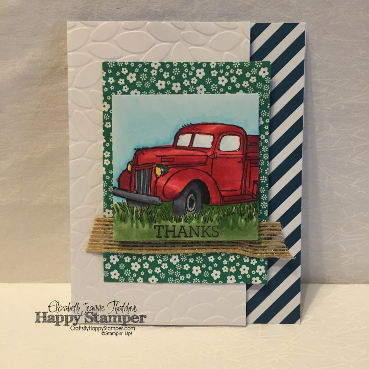 Stampin Up, Country Lovin, Crazy About You, Copics, Petal Burst