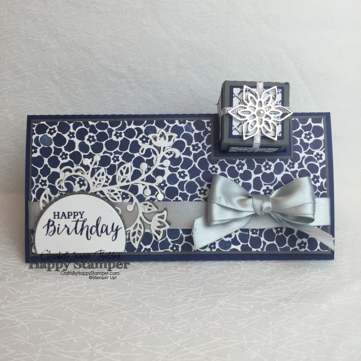 Stampin Up, Flourish Thinlits, Rose Wonder, 3D, Gift box card, diy