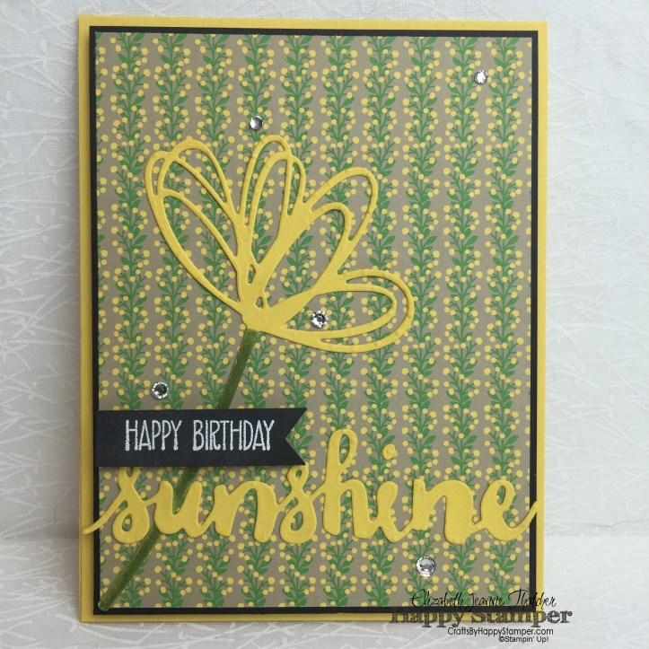 Sunshine Sayings, Sunshine Wishes, Stampin Up, diy, crafts, CYCI