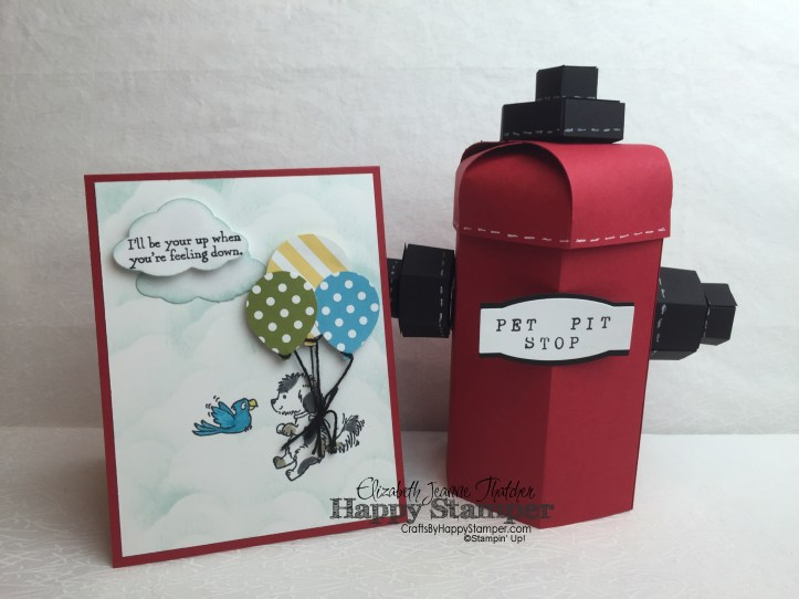 Stampin Up, Bella & Friends, Tree Builder Punch, Balloon Bouquet Punch, Project Life Thinlits, dogs, summer, 3d, diy, crafts