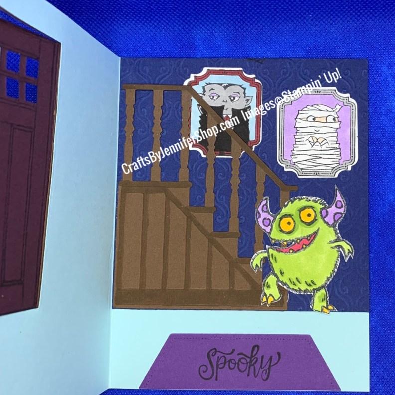 monster living room spooky rug vampire framed photo mummy framed photo living room staircase