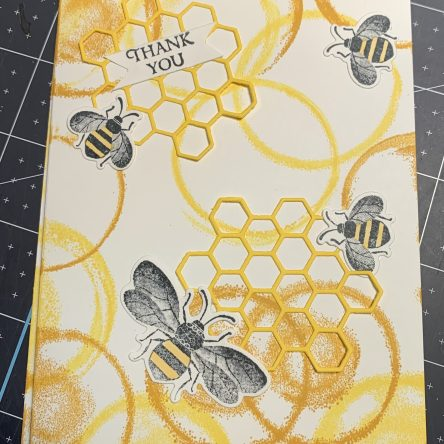 honey bee, thank you card