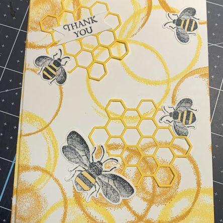 honey bee, thank you card