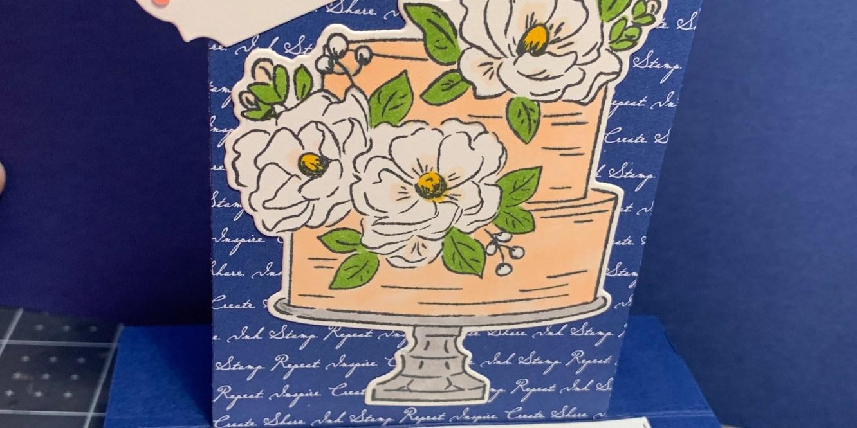 stampin up, birthday, floral birthday, birthday cake