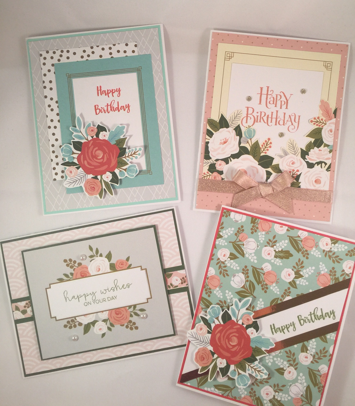 I Decided To Make A Birthday Card Assortment To Put In My Etsy Shop. As I  Was Going Through My Papers, I Settled On The Hello Lovely Paper Packet  From An ...